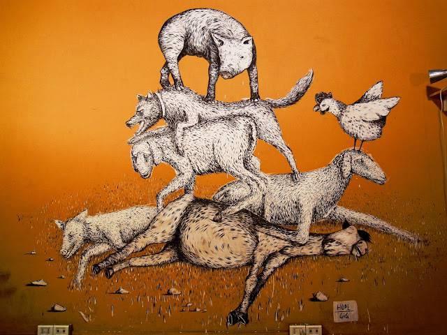 Gli animali nella street art foto for Planimetrie della fattoria contemporanea