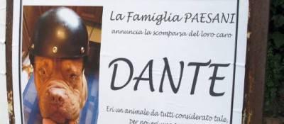 Il manifesto d'addio per Dante
