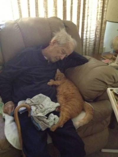L'uomo col suo gatto