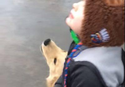 bambino autistico cane labrador