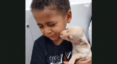 bambina e cagnolino