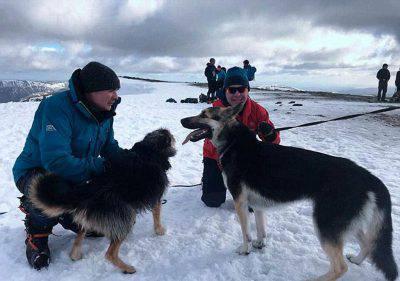 Alpinista salva cani