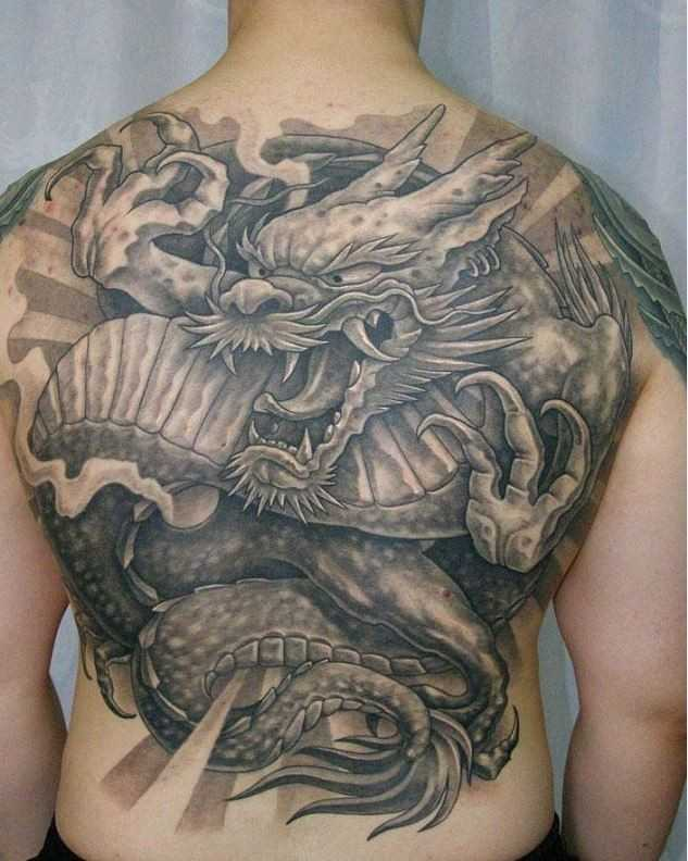 Tatuaggio di drago giapponese