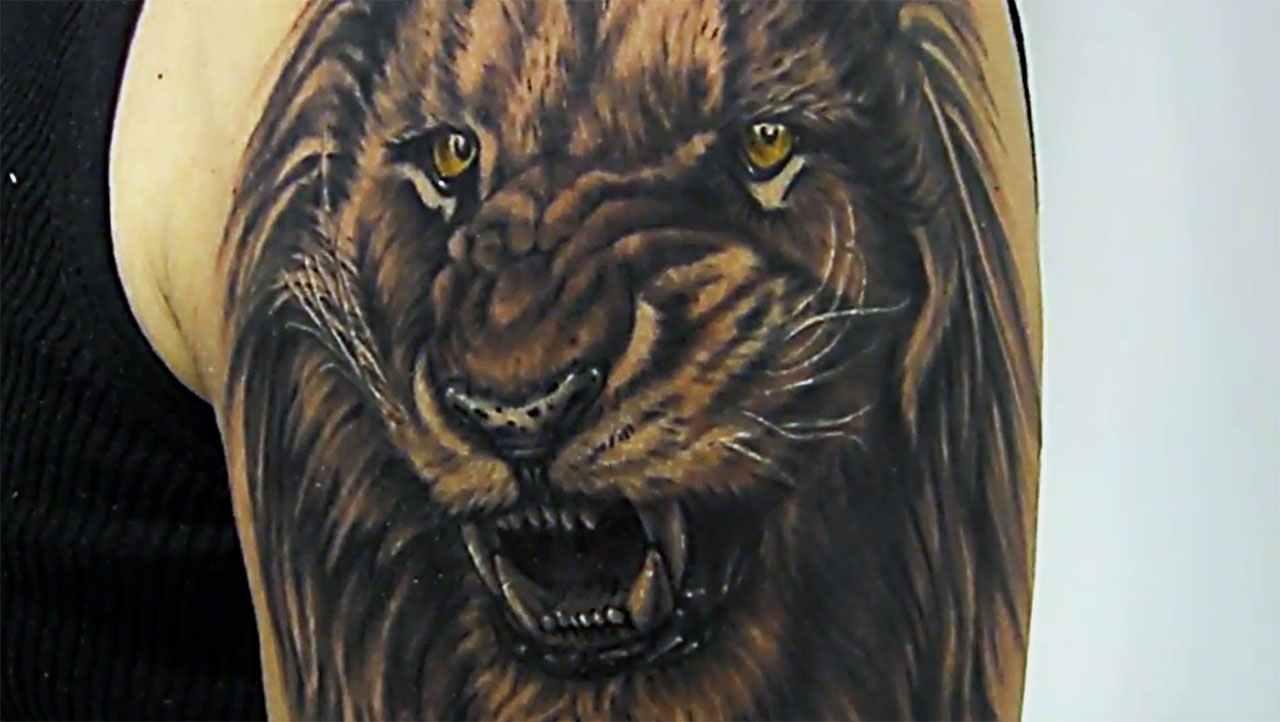 Tatuaggio del leone