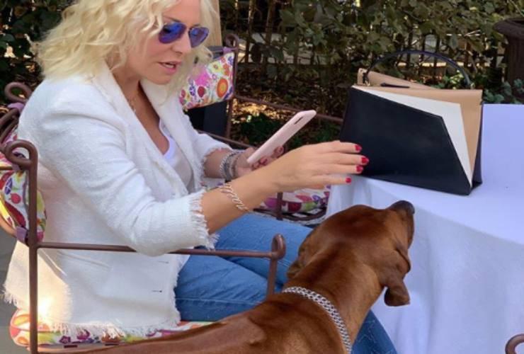 Antonella Clerici cane