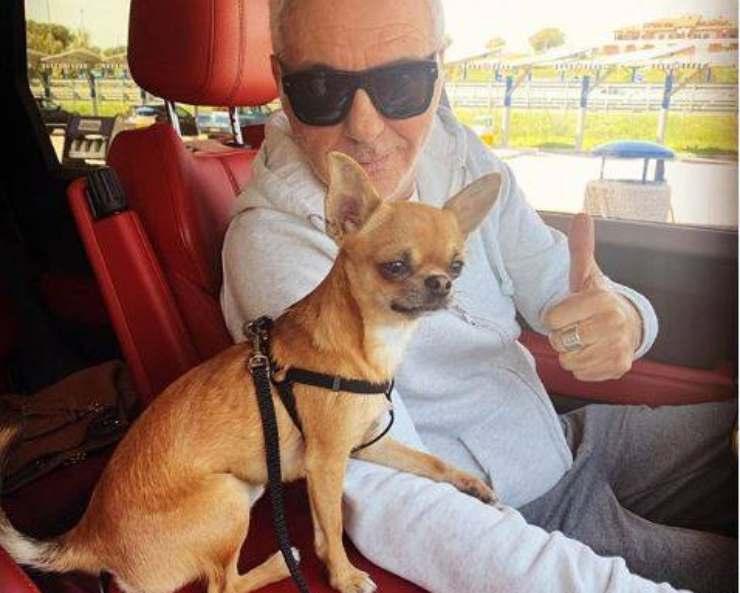 Giorgio Panariello cane
