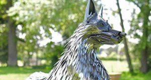scultura cani
