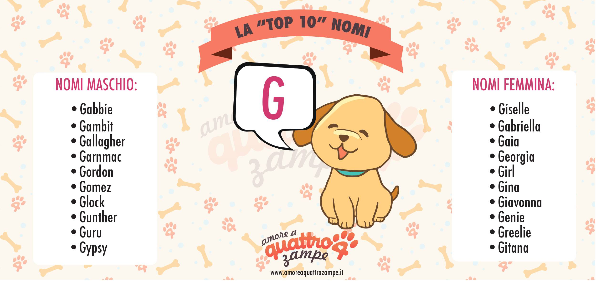 infografica (cani) top10 nomi G