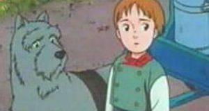 amicizia Cane e bambino nello patrasche statua anversa