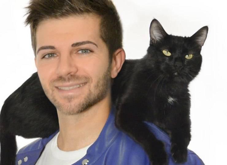 Federico santaiti gatto nero blackie
