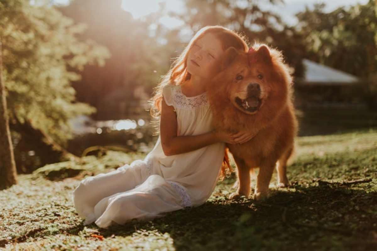 bambini e morte del cane