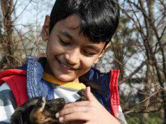 Bambino che sorride con il cucciolo (Foto Pixabay)