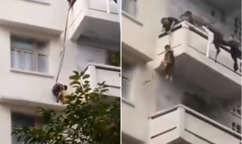 Rete Per Balconi Bambini gatto intrappolato sul cornicione: cala bambino di 7 anni