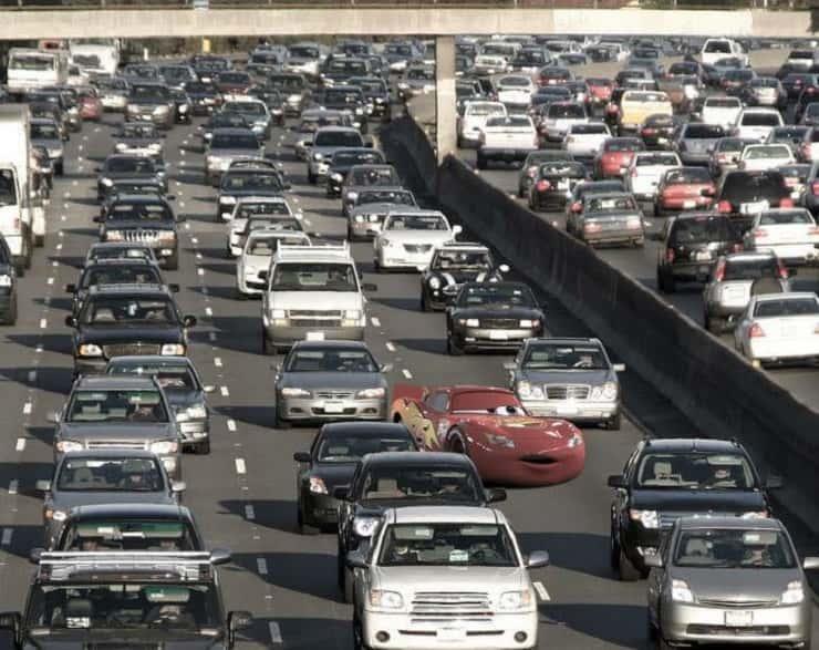 Saetta e il traffico