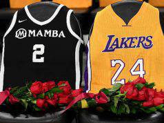 Le maglie di Kobe Black Mamba e sua figlia Gianna (Foto Getty Images)