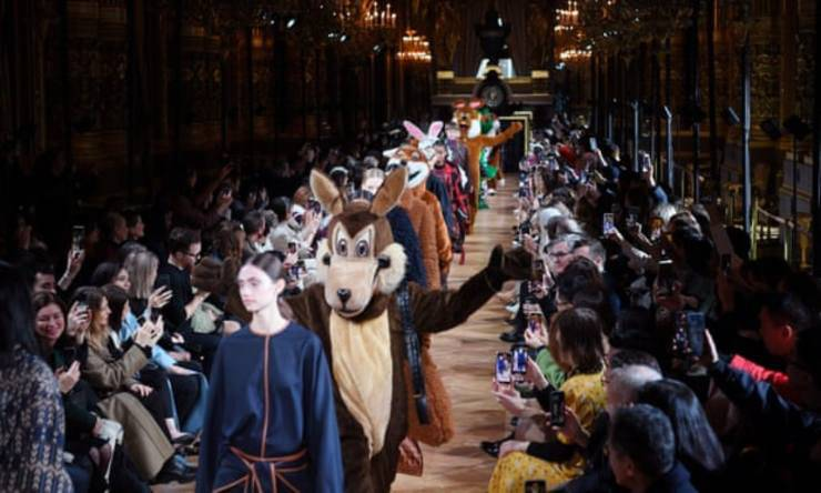Fashion Week sfilata animali