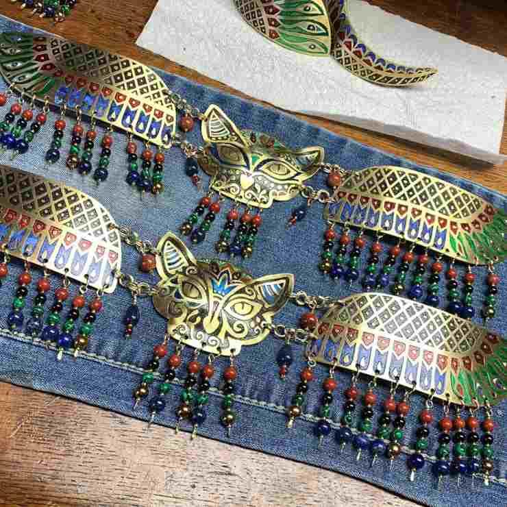 gioielli gatto egitto