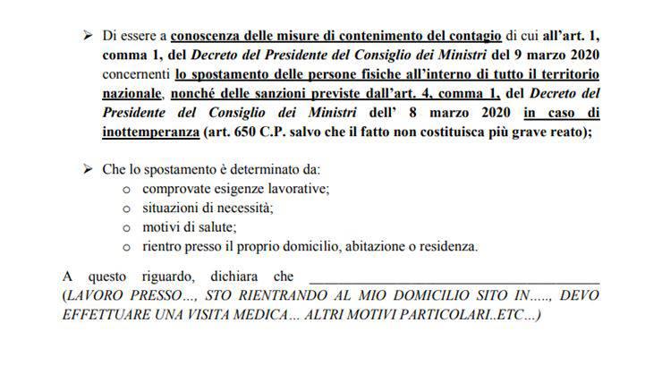 italia zona rossa coronavirus modulo animali