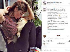 Bianca Atzei col cane