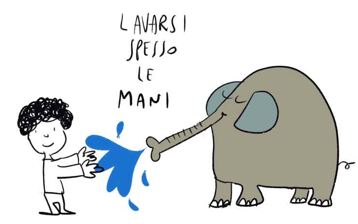 """lavarsi le mani"" (Foto Marco Milanesi)"
