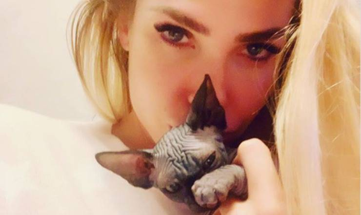 Ilary Blasi gatto