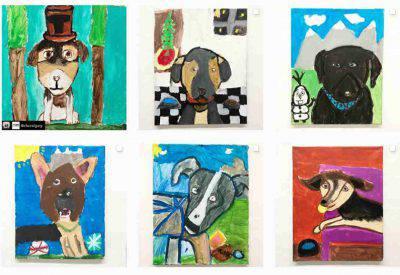 bambini disegni cani