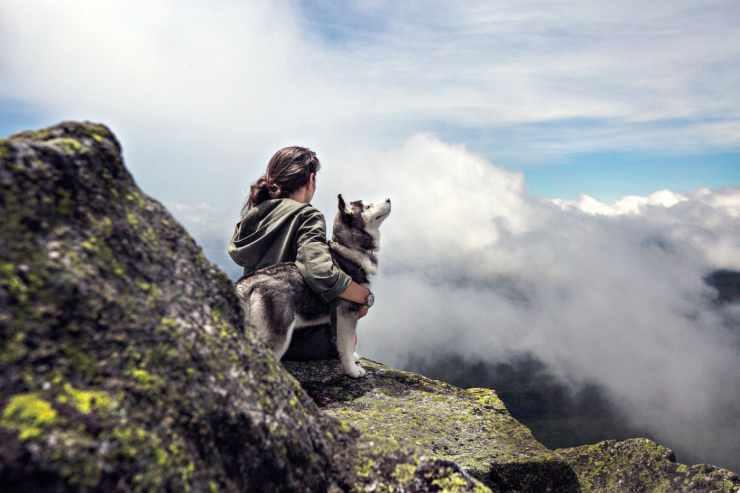 L'husky e la padrona (Foto Pixabay)