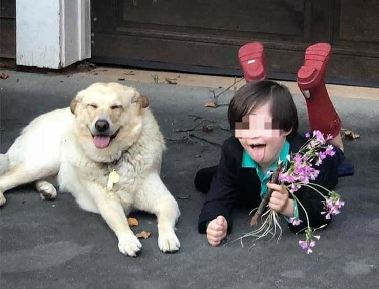 bambino Sposa il suo cane
