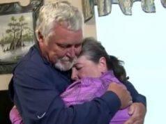 L'abbraccio tra marito e moglie (Foto video)
