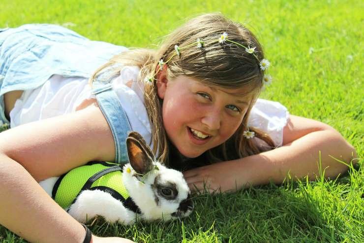 Coniglio e bambina