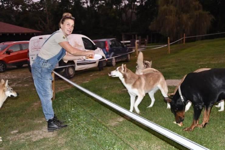 Patrizia con i suoi cani