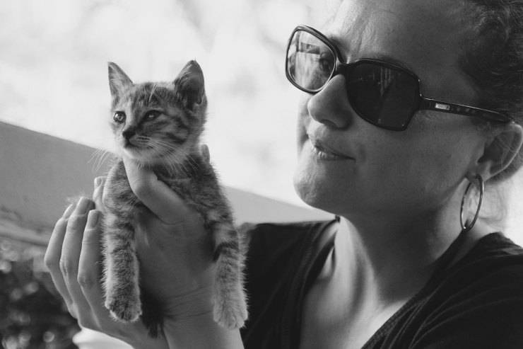 Gatto e padrona