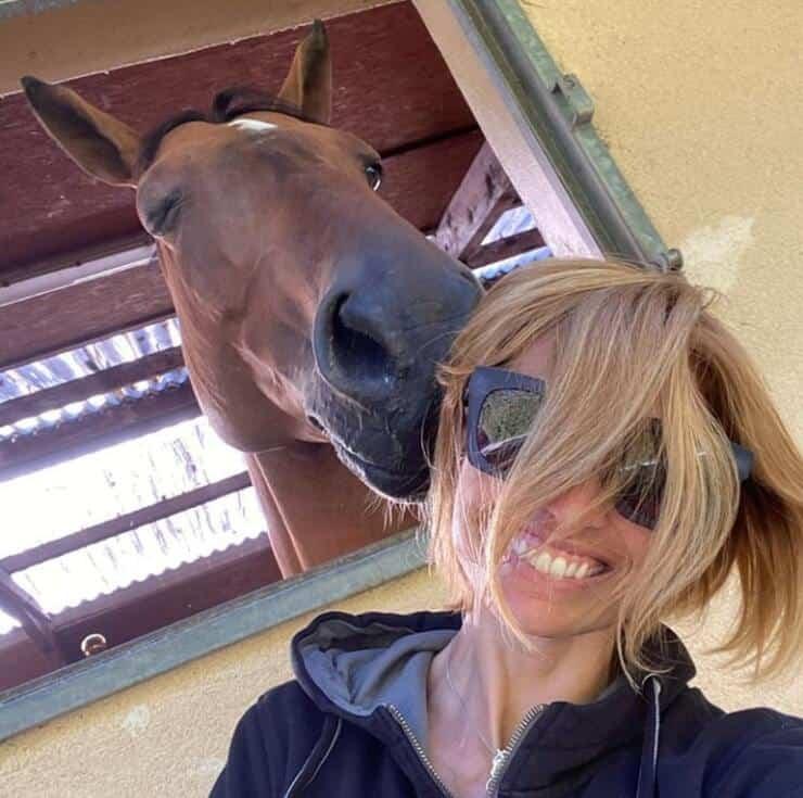 Carlotta Mantovan Felice con il suo cavallo