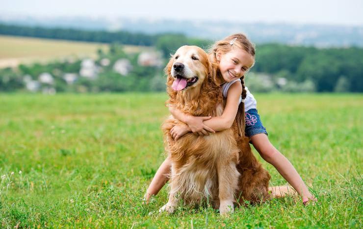cane e bambino