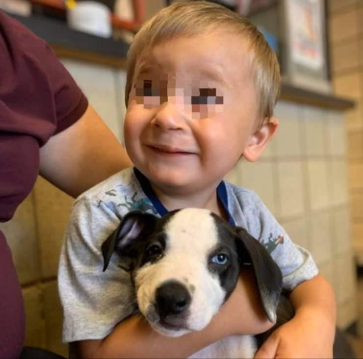bambino adotta cane stessa malformazione