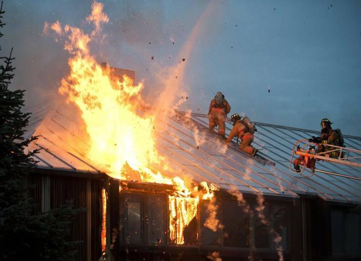 cane salvato casa incendio