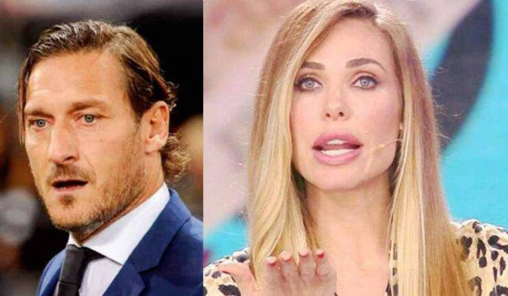 Ilary Blasi e Francesco Totti Donna Paola