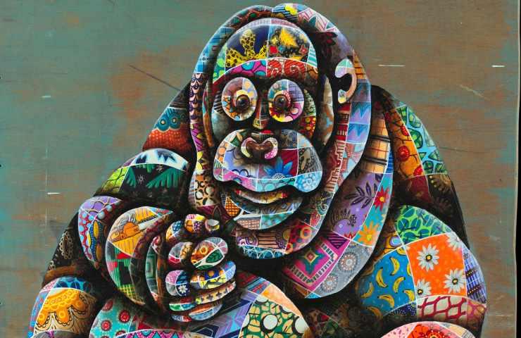 L'orango nel murales (Foto Facebook)