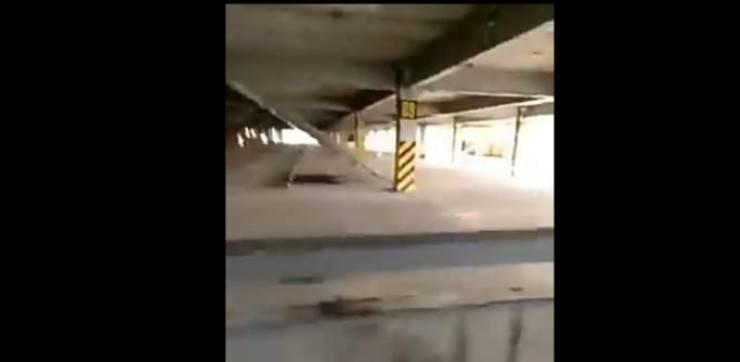 Il parcheggio del ritrovamento (Foto video)