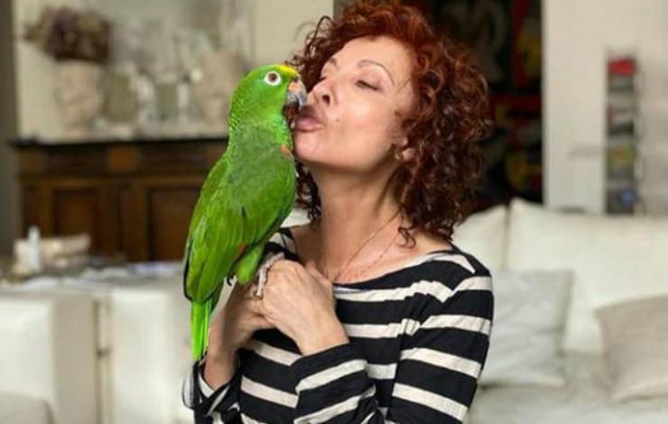 Alda e il suo pappagallo (Foto Instagram)