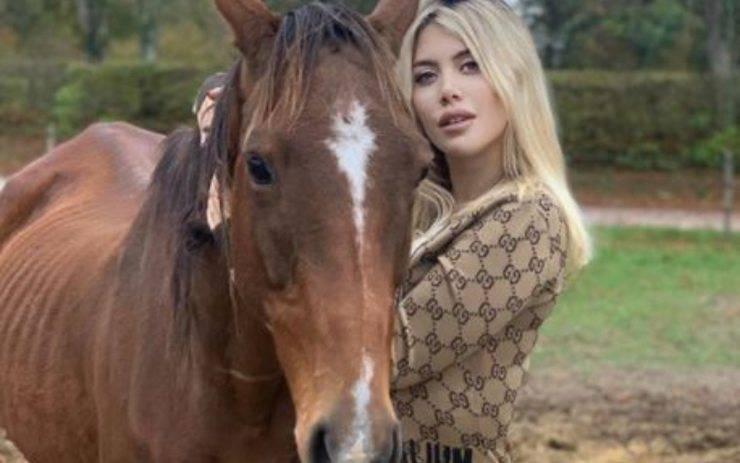 wanda nara cavallo