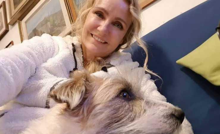 Licia Colò e il cane (Foto Instagram)