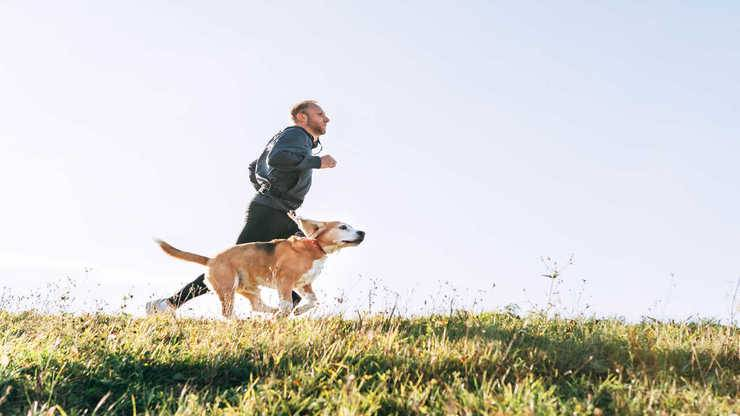 correre con cane