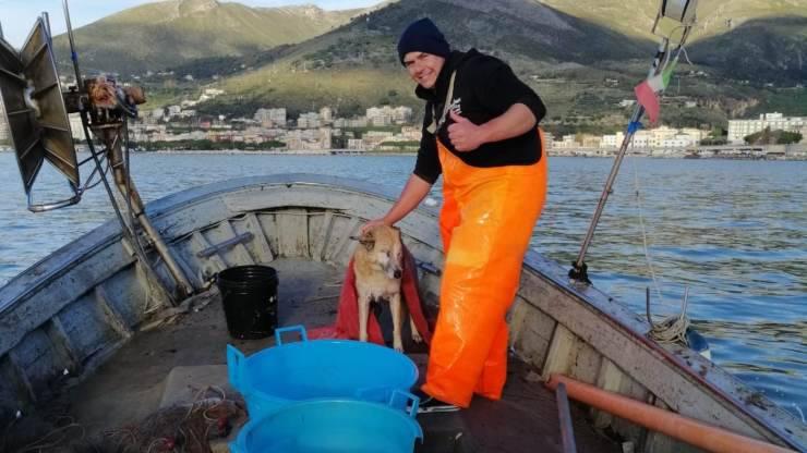 Cane Ritrovato Pescatore