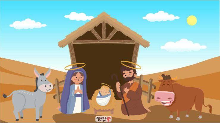 Animali del presepe di Natale