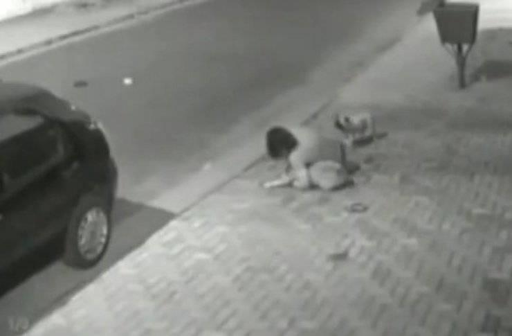 donna rischia vita salvare cane