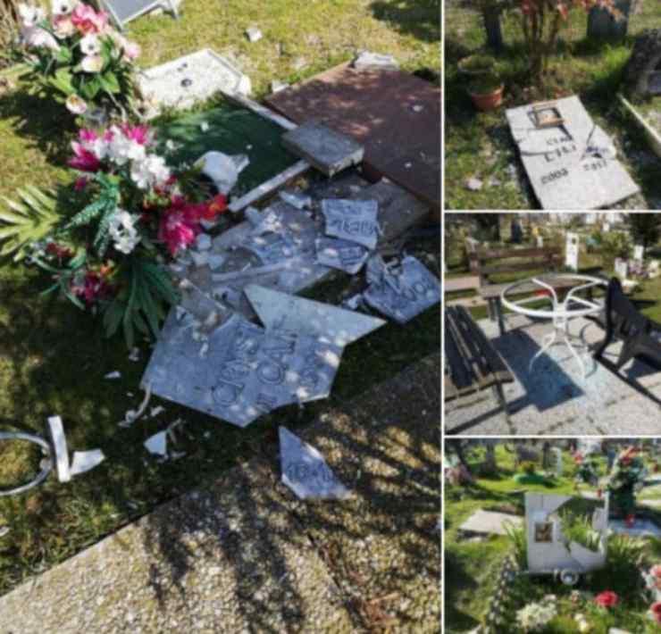 tombe distrutte cimitero animali alessandria