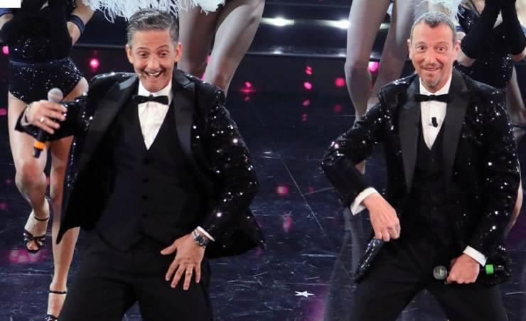 Fiorello e Amadeus (Foto Facebook Sanremo 2021)