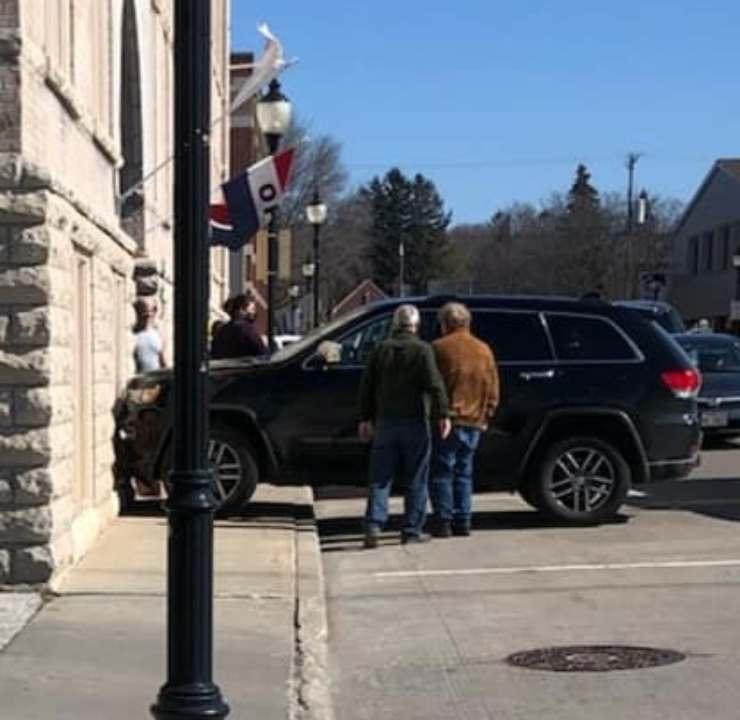cane schianta auto proprietario galleria arte