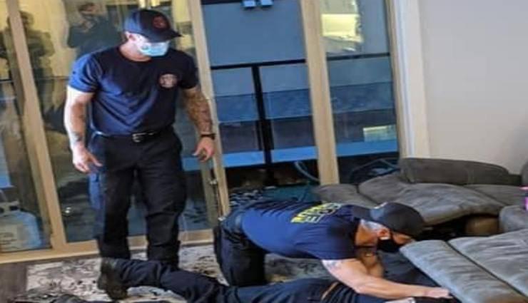 Operazione di salvataggio (Foto Facebook)